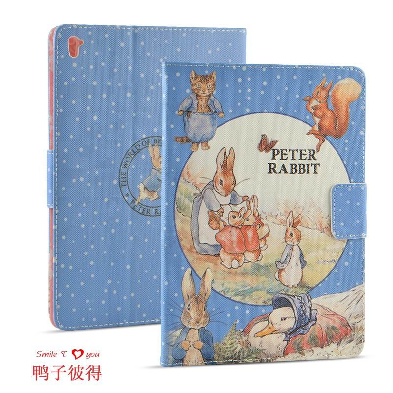 ipad pro 9 inch case with cartoon pictures of peter rabbit Duck Peter: