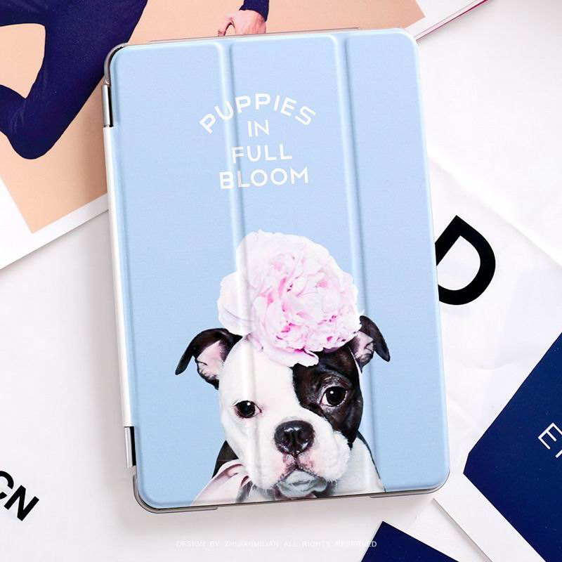 ipad pro 9 inch case with cute dog picture flower Dog: