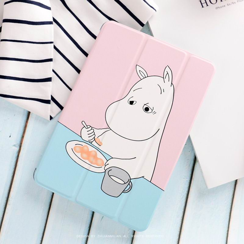 ipad pro 9 inch case with cute hippo moomin picture Breakfast Moomin: