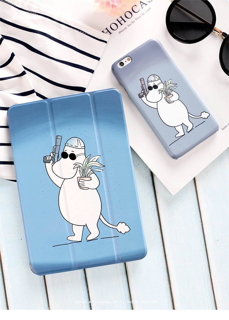 ipad pro 9 inch case with cute hippo moomin picture