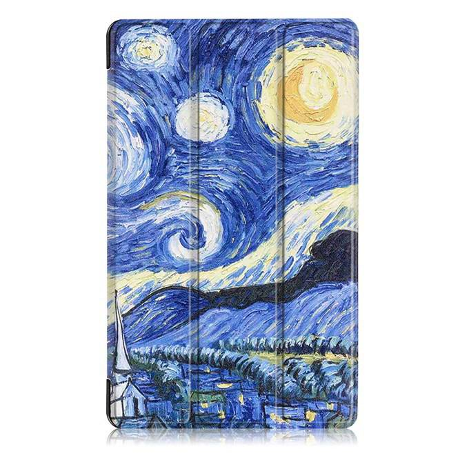 mediapad m3 case with oil painting of van gogh and other Starry sky: