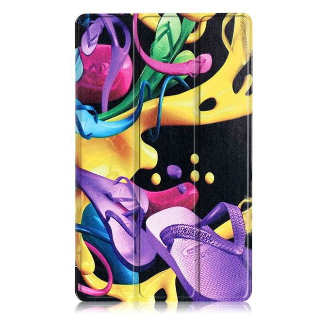 mediapad m3 case with oil painting of van gogh and other Colorful shoes: