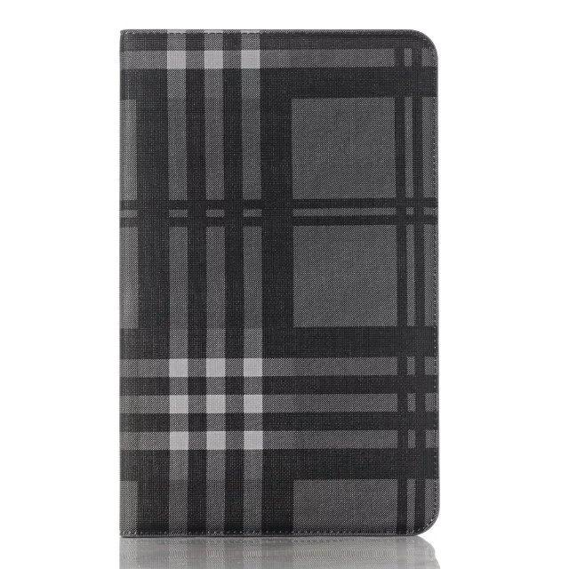 Case with plaid pattern and card slots for Samsung Galaxy Tab A 10.1 (2016) SM-T580 SM-T585