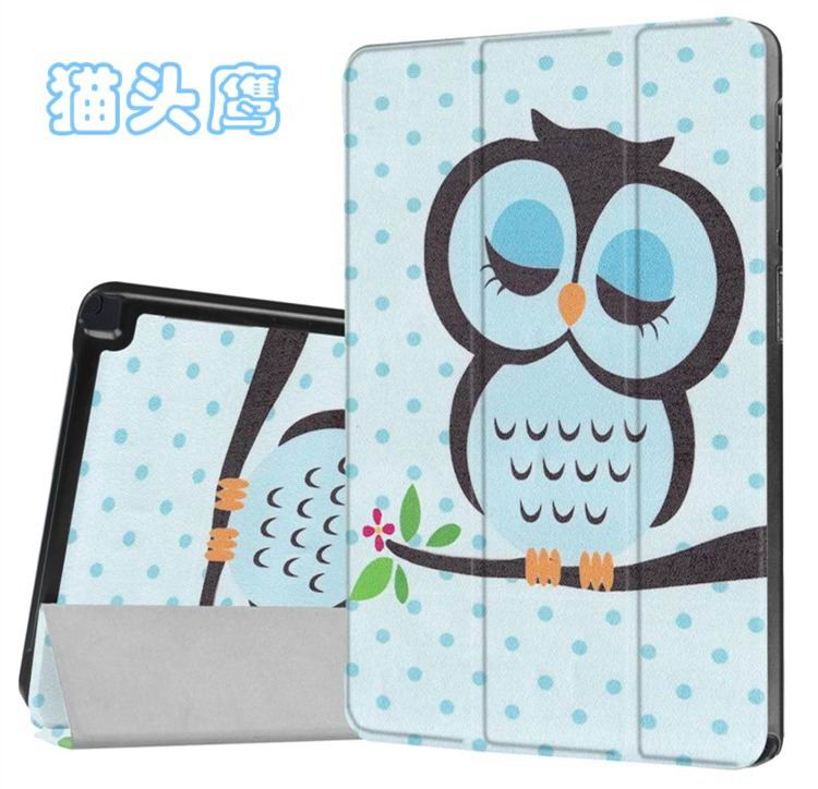 galaxy tab a 10 1 s pen 2016 case with stand and different illustrations 2 Owl: