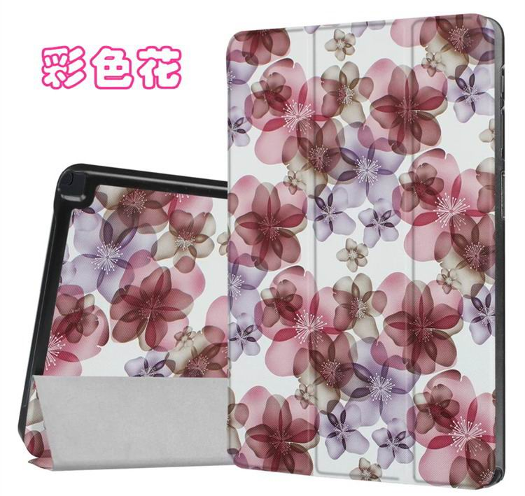 galaxy tab a 10 1 s pen 2016 case with stand and different illustrations 2 Color flowers:
