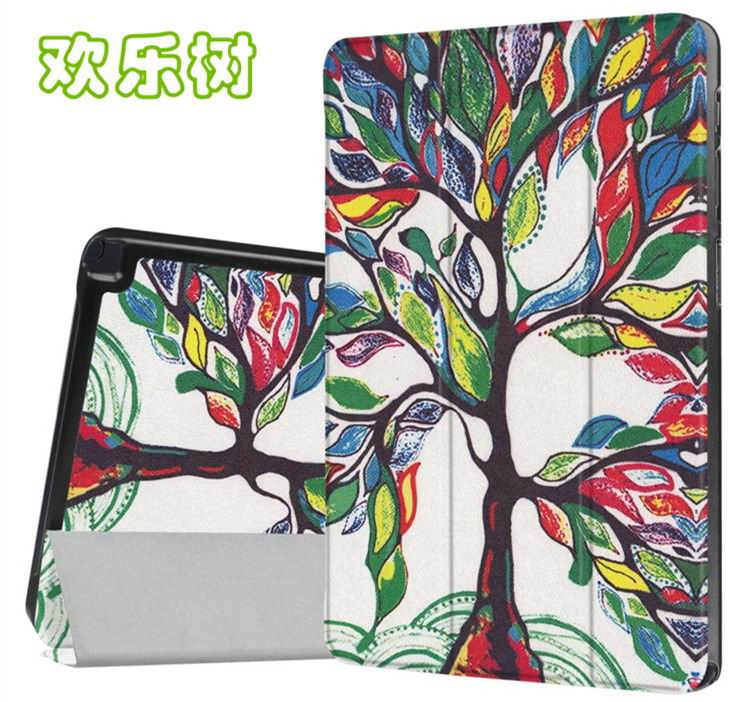 galaxy tab a 10 1 s pen 2016 case with stand and different illustrations 2 Happy tree: