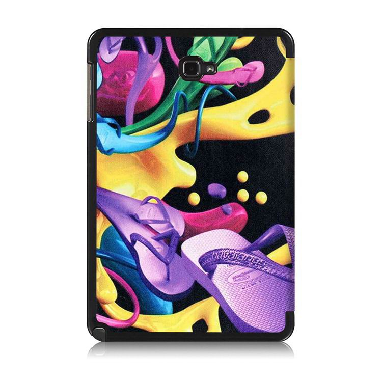 galaxy tab a 10 1 s pen 2016 case with stand and multi painting pattern Colorful shoes: