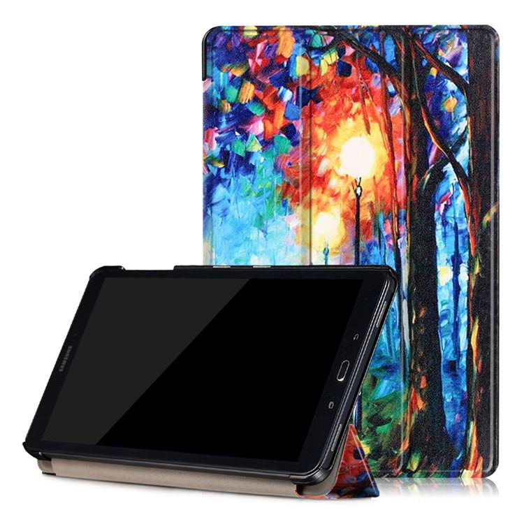 galaxy tab a 10 1 s pen 2016 case with stand and multi painting pattern