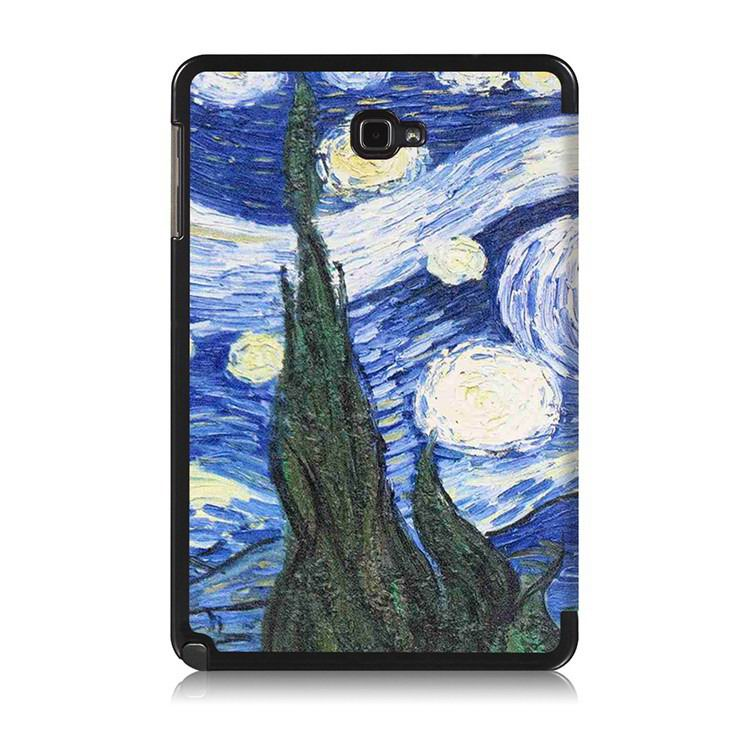 galaxy tab a 10 1 s pen 2016 case with stand and multi painting pattern Star: