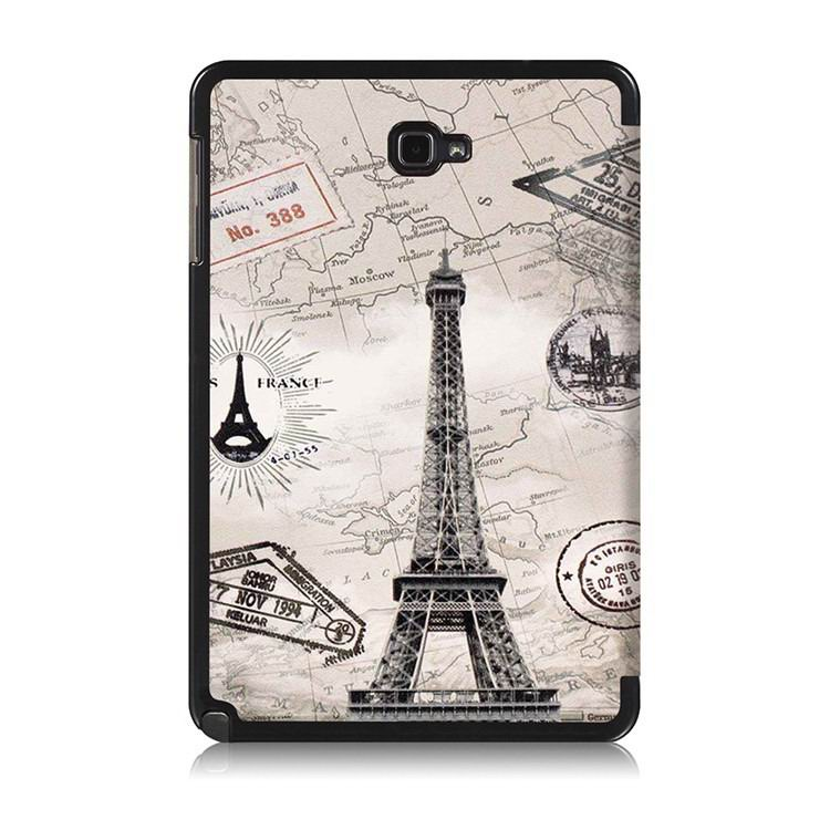 galaxy tab a 10 1 s pen 2016 case with stand and multi painting pattern Vintage Eiffel Tower: