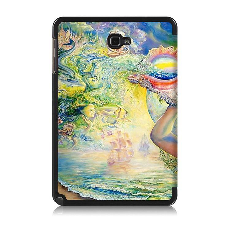 galaxy tab a 10 1 s pen 2016 case with stand and multi painting pattern The sea of women: