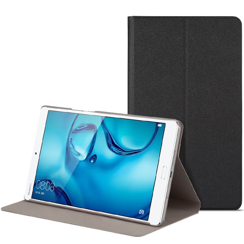 mediapad m3 cute bright case with a picture of owl love and other black-01: