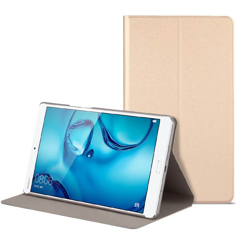 mediapad m3 cute bright case with a picture of owl love and other gold-01: