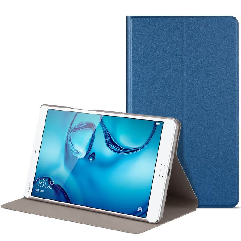mediapad m3 cute bright case with a picture of owl love and other blue-01: