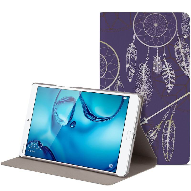 mediapad m3 cute bright case with a picture of owl love and other mysterious tribal Totem: