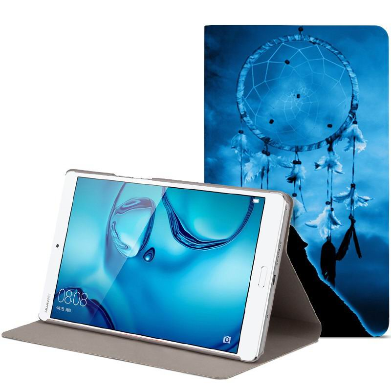 mediapad m3 cute bright case with a picture of owl love and other colored:
