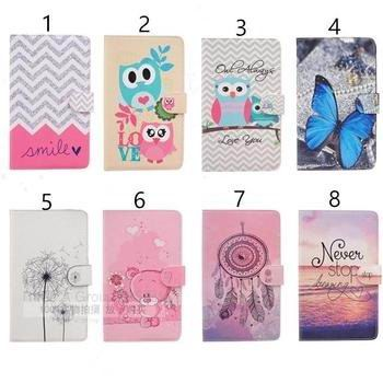 cute case with card slots and pictures of butterfly owl and other 00