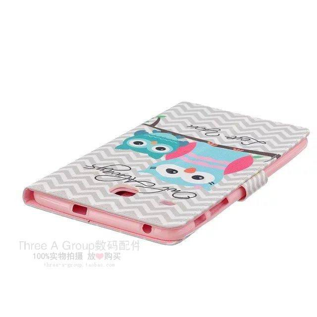 galaxy tab e 8 0 cute case with card slots and pictures of butterfly owl and other