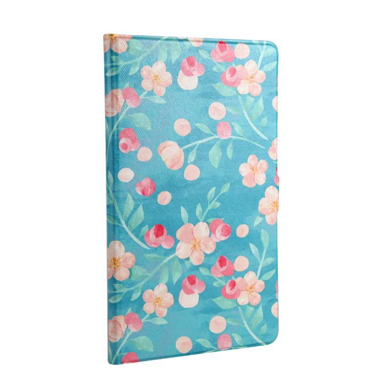 mediapad m3 cute case with cartoon heroes Blue background small floral: