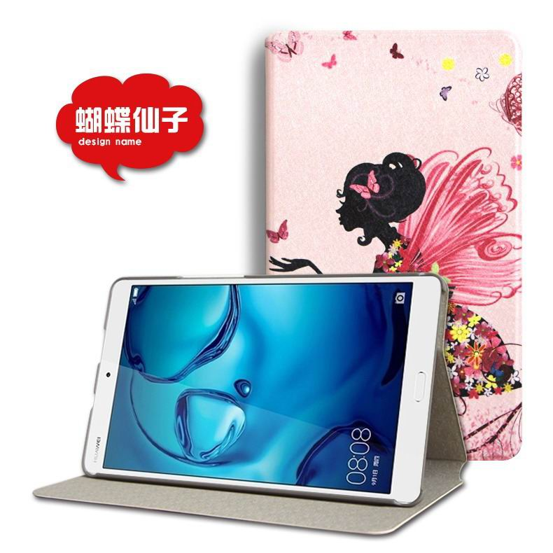 mediapad m3 cute case with cartoon heroes and different pictures Butterfly fairy: