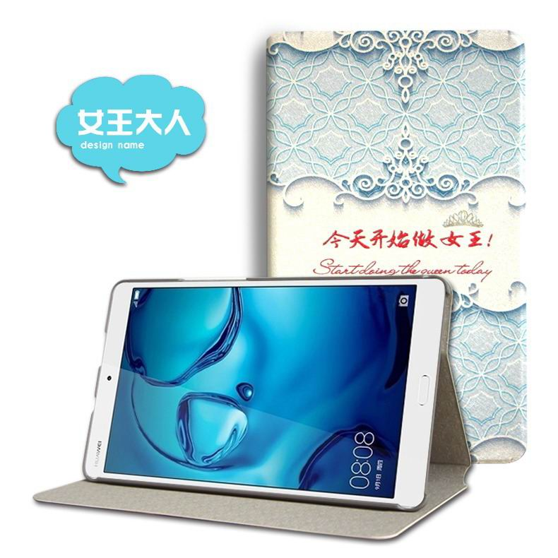 mediapad m3 cute case with cartoon heroes and different pictures Queen of adults: