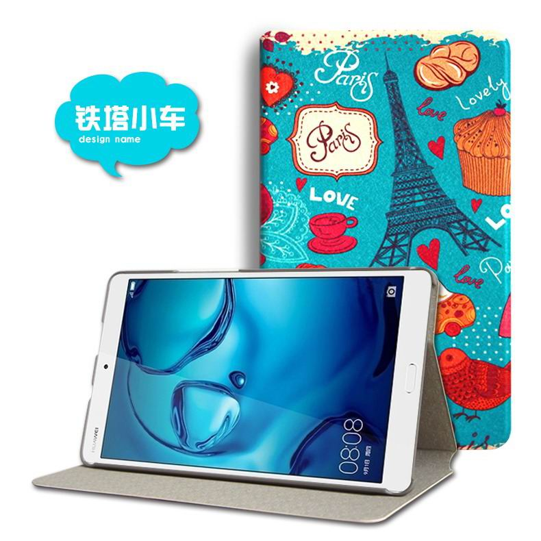 mediapad m3 cute case with cartoon heroes and different pictures Tower: