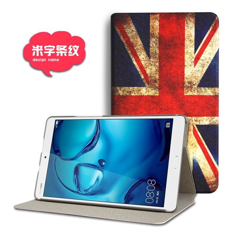 mediapad m3 cute case with cartoon heroes and different pictures flag: