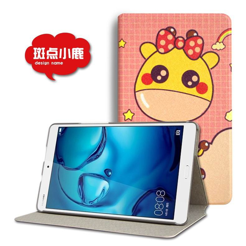 mediapad m3 cute case with cartoon heroes and different pictures Spotted fawn: