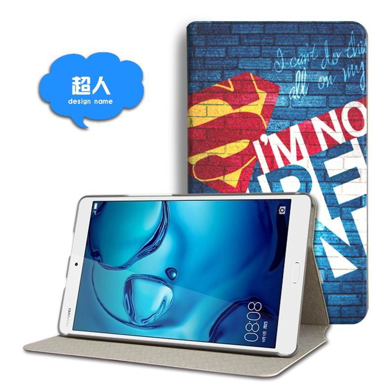 mediapad m3 cute case with cartoon heroes and different pictures Superman: