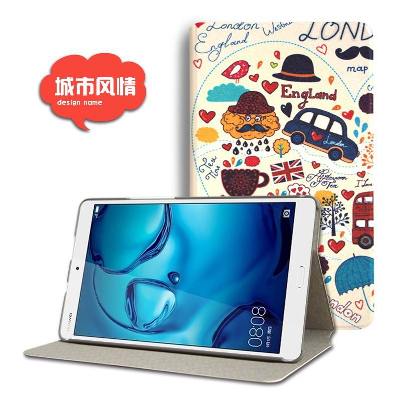mediapad m3 cute case with cartoon heroes and different pictures City: