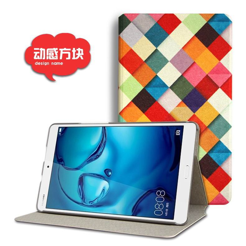 mediapad m3 cute case with cartoon heroes and different pictures Dynamic squares: