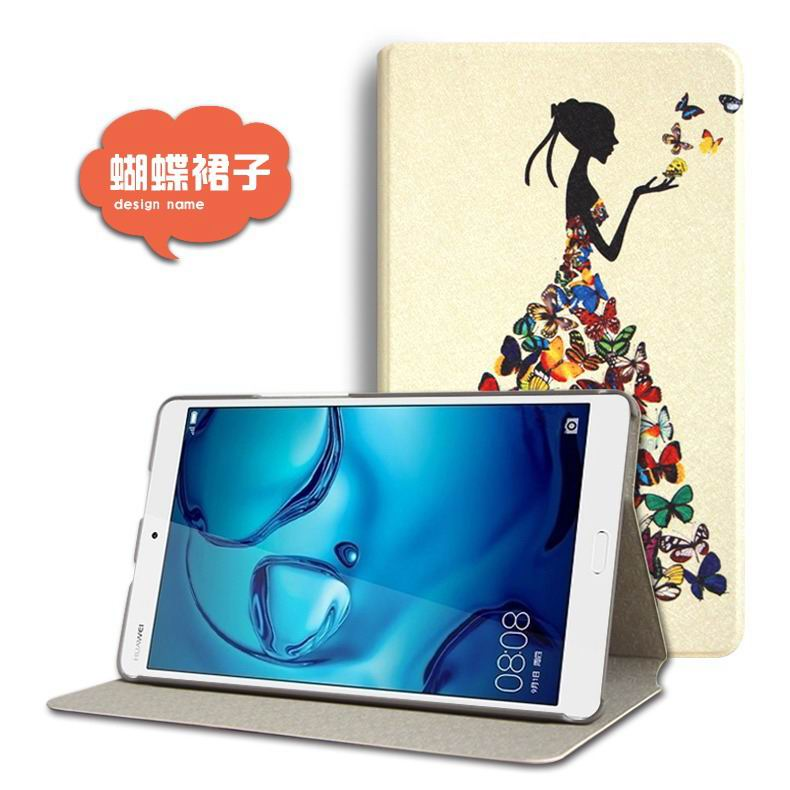 mediapad m3 cute case with cartoon heroes and different pictures Butterfly skirt: