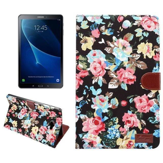 galaxy tab a 10 1 2016 fabric case with card section black:
