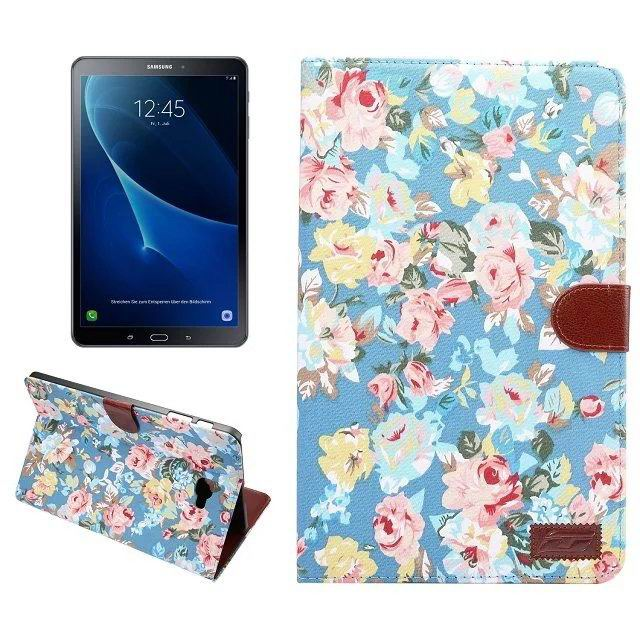 galaxy tab a 10 1 2016 fabric case with card section blue:
