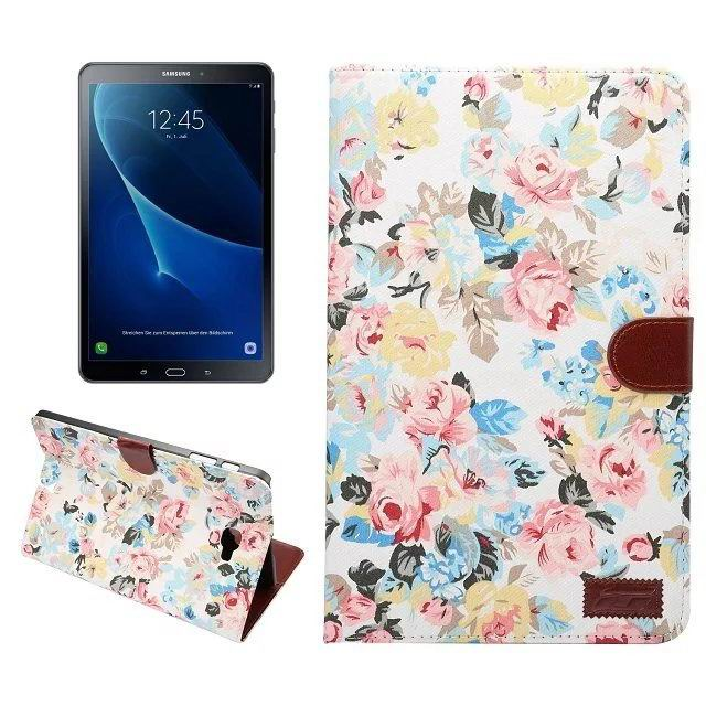 galaxy tab a 10 1 2016 fabric case with card section white: