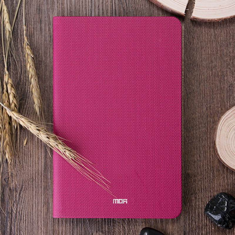 mediapad m3 mofi business waterproof case with tissue pattern Begonia red: