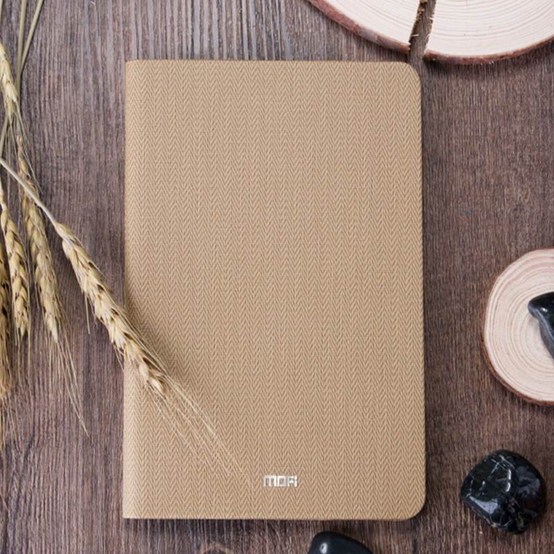 mediapad m3 mofi business waterproof case with tissue pattern wheat gold: