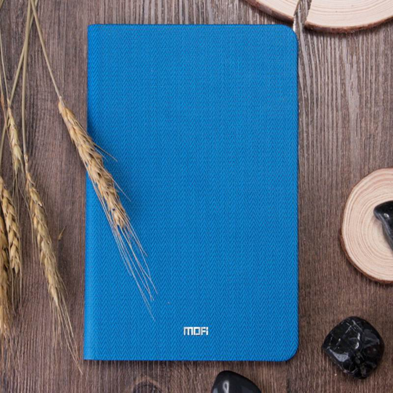 mediapad m3 mofi business waterproof case with tissue pattern blue: