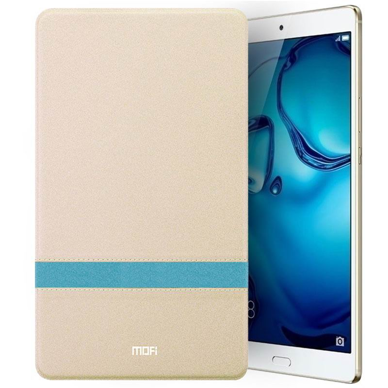 mediapad m3 mofi protective business case with stylish string and stand Champagne gold: