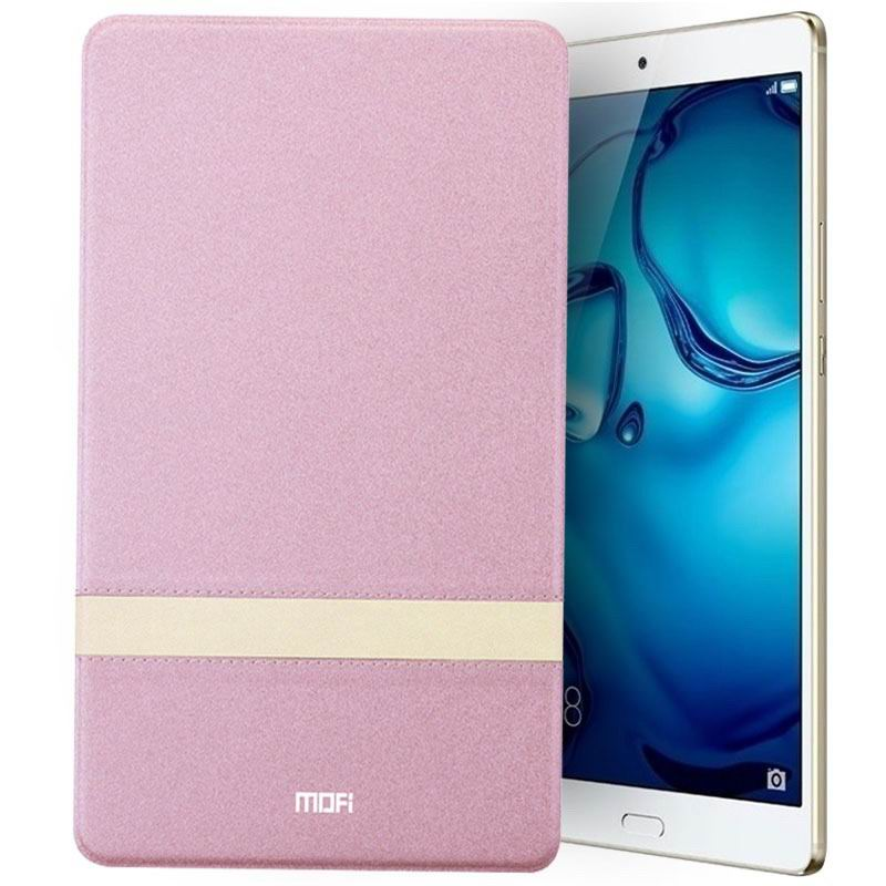 mediapad m3 mofi protective business case with stylish string and stand Rose Gold: