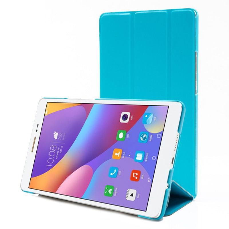 honor pad 2 multicolor business case with stand serenity blue:
