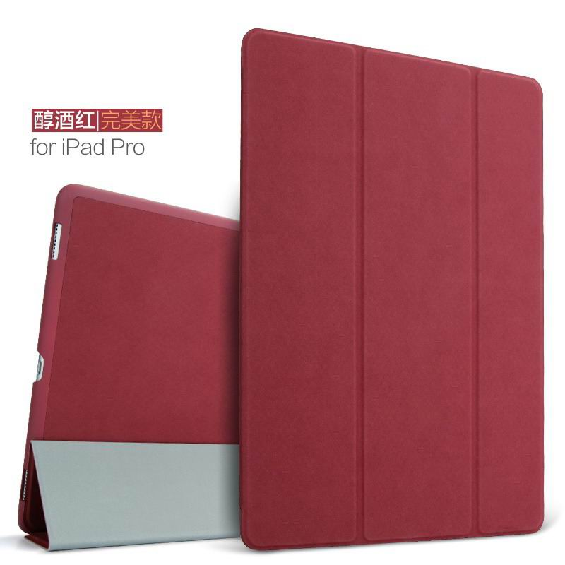 ipad pro 9 inch plain case 2 wine red: