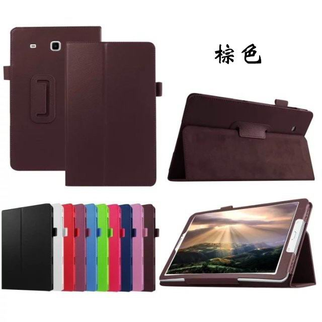galaxy tab e 8 0 plain case 4 brown: