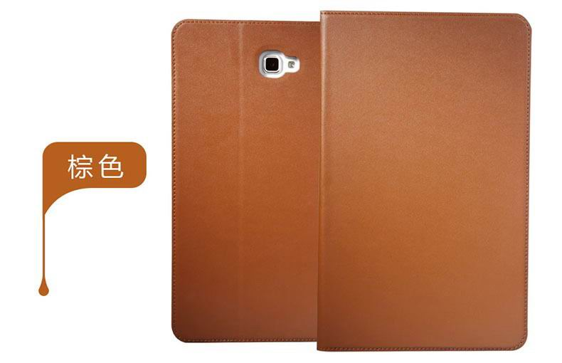 galaxy tab a 10 1 2016 plain case 5 brown: