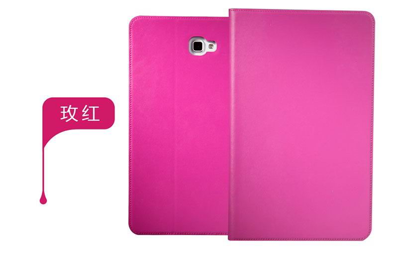 galaxy tab a 10 1 2016 plain case 5 rose red: