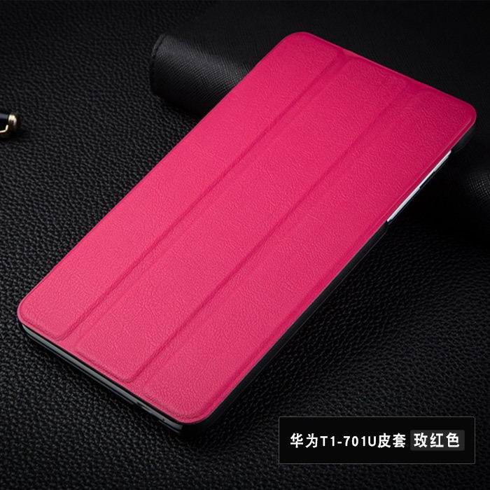 mediapad t1 70 plus plain case 8 Rose red: