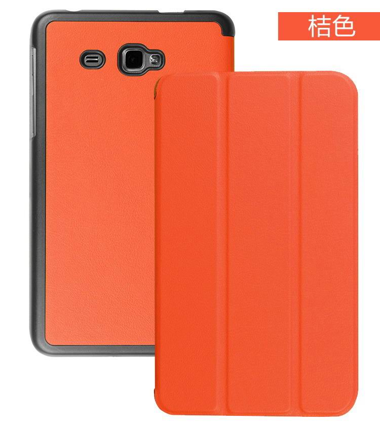 galaxy tab j plain case with black frame Orange: