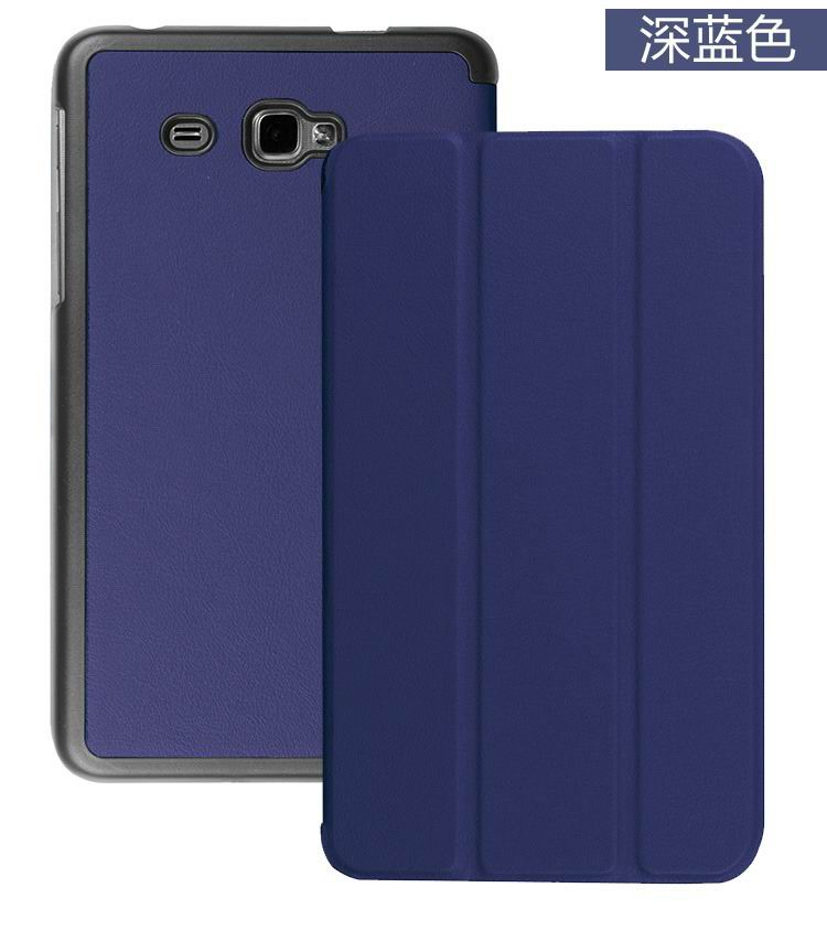galaxy tab j plain case with black frame blue: