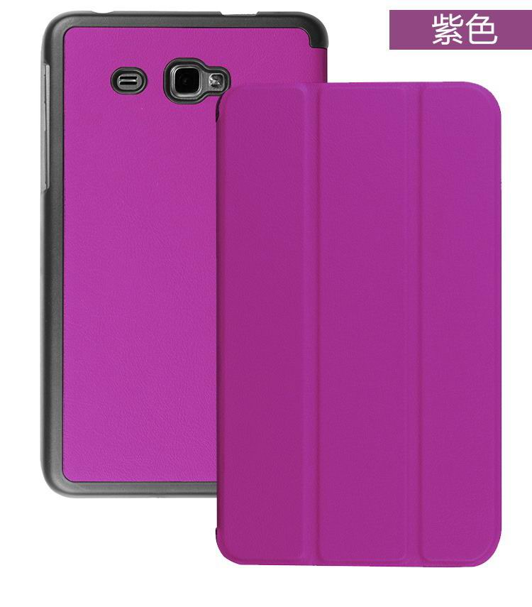 galaxy tab j plain case with black frame purple: