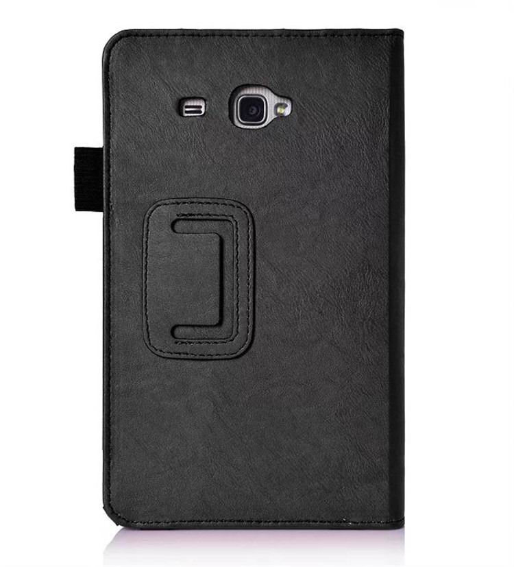 galaxy tab a 7 0 2016 plain case with card sections Black: